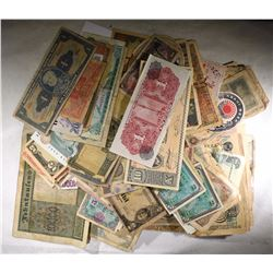 100+ Pieces FOREIGN CURRENCY - GREAT MIX