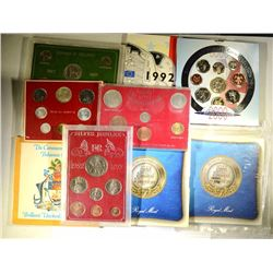 9 - FOREIGN UNC COIN SETS in ORIGINAL CASES