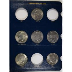 17 - UNC IKE COLLECTION - ALL DIFFERENT, 2-SILVER
