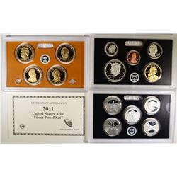 2011 U.S. SILVER PROOF SET ORIG BOX/COA
