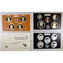 2014 U.S. SILVER PROOF SET IN ORIG BOX/COA