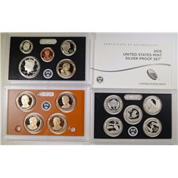 2015 U.S. SILVER PROOF SET IN ORIG BOX/COA