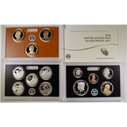 2016 U.S. SILVER PROOF SET IN ORIG BOX/COA