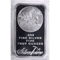 FIVE OUNCE .999 SILVER BAR-SILVERTOWNE