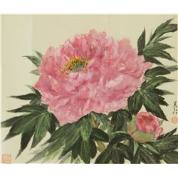 Song Meiling 1897-2003 Chinese Watercolour Peony