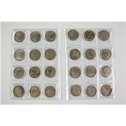 Twenty-Four Assorted Chinese Silver Coin