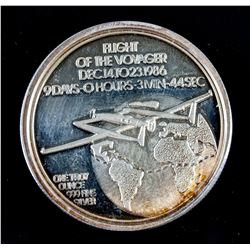 Flight Of Voyager Commemorative Fine Silver Coin