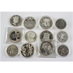 Twelve Assorted Silver Commemorative Coins