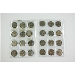 24 PC Assorted Chinese and Japanese Silver Coin