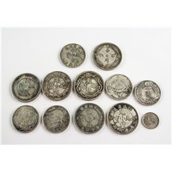 Eleven Assorted Silver Replica and Pattern Coins