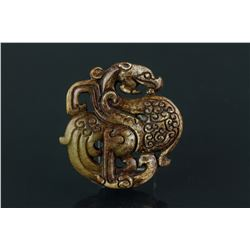Chinese Archaic Jade Carved Dragon Pendant