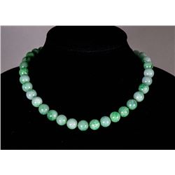 Chinese Fine Green Jadeite Necklace