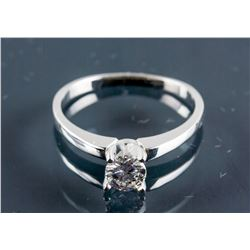 14k White Gold 0.40ct Diamond Ring CRV$2400