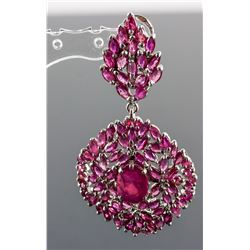 Ruby Large Fancy Shape Drop Earrings CRV$2150