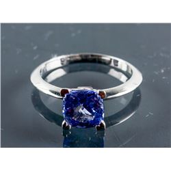 10k Gold 1.95ct Square Cut Violet Tanzanite Ring