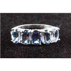 10k White Gold 3.0ct 5 Tanzanite Ring CRV$1625