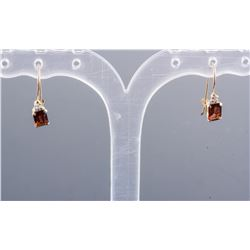 1.25ct Garnet & Diamond Earrings CRV$395
