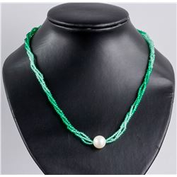 Gradient Green Agate Pearl Necklace RV$400