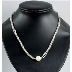 Genuine Moonstone Pearl Necklace RV$400