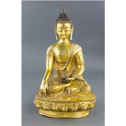 Beautiful Chinese Gilt Bronze Buddha Statue