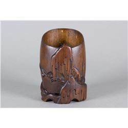 Chinese Finely Carved Bamboo Brushpot