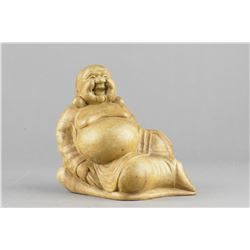 Chinese Bamboo Carved Figure of Buddha