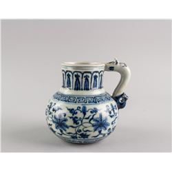 Chinese Blue and White Porcelain Pitcher Xuande MK