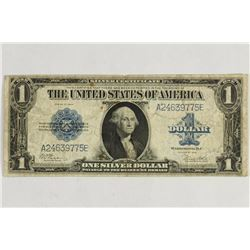 LARGE SIZE 1923 $1 SILVER CERTIFICATE BLUE SEAL