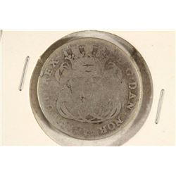 1764 DANISH WEST INDIES SILVER 24 SKILLINGS