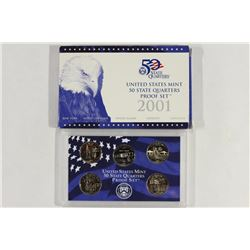 2001 US 50 STATE QUARTERS PROOF SET WITH  BOX