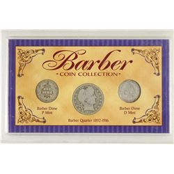 BARBER COIN COLLECTION 1913-P & 1914-D DIMES AND