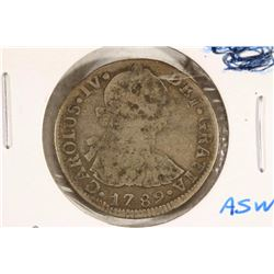 1789 SPAIN SILVER 2 REALE