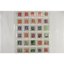 30 ASSORTED WWII GERMAN NAZI STAMPS