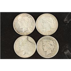 2-1923-D & 2-1923-S PEACE SILVER DOLLARS