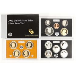 2012 US SILVER PROOF SET (WITH BOX) 14 PIECES