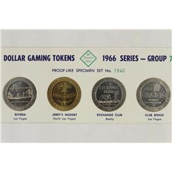 4-1966 SERIES GROUP 7 DOLLAR GAMING TOKENS