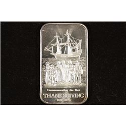 1 TROY OZ .999 FINE SILVER 1973 THANKSGIVING