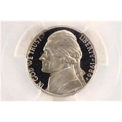 1986-S JEFFERSON NICKEL PCGS PR69 DCAM