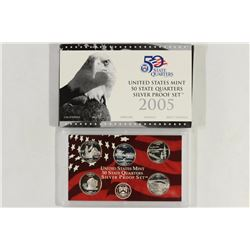 2005 US SILVER US 50 STATE QUARTERS PROOF SET