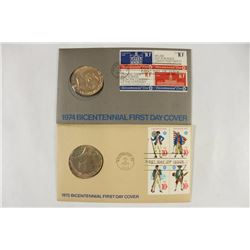 1974 & 1975 US BICENTENNIAL 1ST DAY COVERS