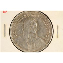 1935-B SWITZERLAND SILVER 5 FRANCS