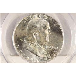 1954-D FRANKLIN HALF DOLLAR PCGS MS64FBL