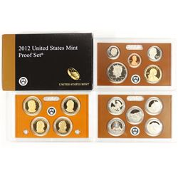 2012 US PROOF SET (WITH BOX) 14 PIECES, WITH BOX