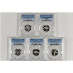 1999-S SILVER US 50 STATE QUARTERS SETS ALL PCGS