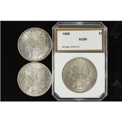 1886, 1890 & 1900 MORGAN SILVER DOLLARS
