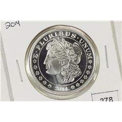 1 TROY OZ .999 FINE SILVER PROOF ROUND 2014 MORGAN
