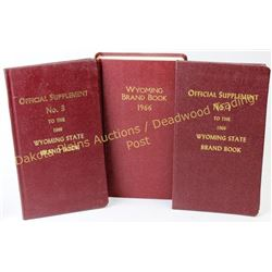 Wyo. Brand Book 1966 edition with two supplements No. I and III, all show very good condition.