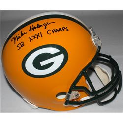 "Mike Holmgren Signed Packers Full-Size Helmet Inscribed ""SB XXI Champs"" (Radtke COA)"