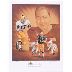 Bart Starr Signed Packers LE 19x24 Lithograph #336/550 (Starr COA)