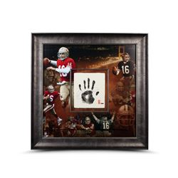 Joe Montana Signed LE 49ers 36x36 Custom Framed Tegata Handprint Display (UDA COA)